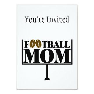 Football Mom Goal Post Card