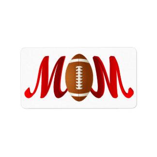 Football Mom Label