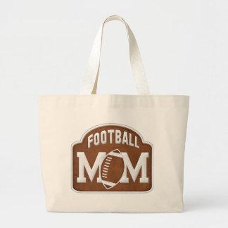 Football Mom Large Tote Bag