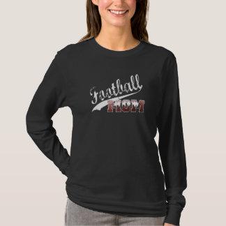 Football Mom on Black T-Shirt