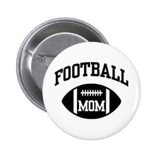 Football Mom Pinback Button