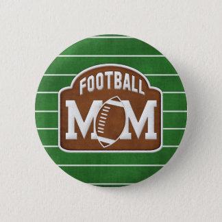 Football Mom Pinback Button