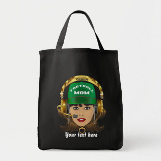 Football MOM Special View Notes Please Tote Bags