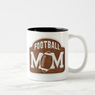 Football Mom Two-Tone Coffee Mug