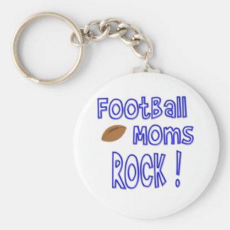 Football Moms Rock ! (blue) Keychain