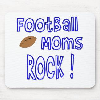 Football Moms Rock ! (blue) Mouse Pad