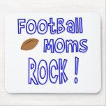 Football Moms Rock ! (blue) Mousepad