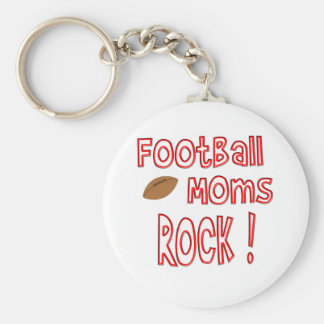 Football Moms Rock ! (red) Key Chains