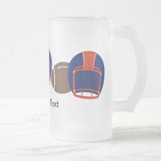FOOTBALL Mug Beer Blue and Orange - SRF