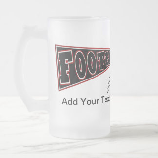 FOOTBALL Mug Beer Red / Garnet and Black - SRF