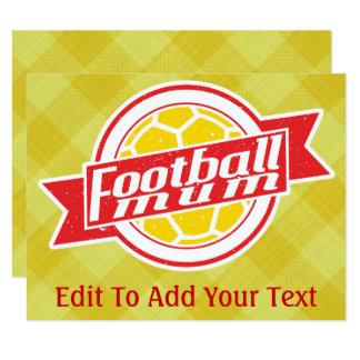 Football Mum Cards Invitations