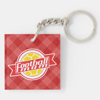 Football Mum Keyring