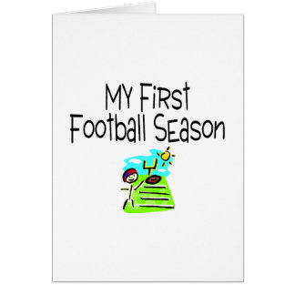Football My First Fooball Season (Stick Figure) Card