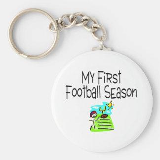 Football My First Fooball Season (Stick Figure) Keychain