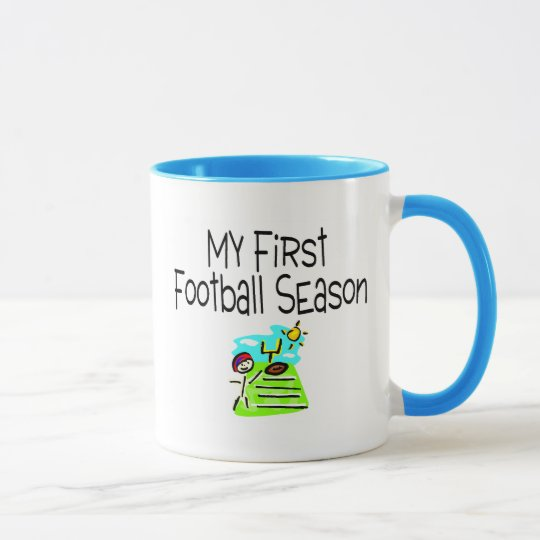 Football My First Fooball Season (Stick Figure) Mug