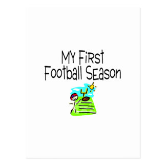 Football My First Fooball Season (Stick Figure) Postcard