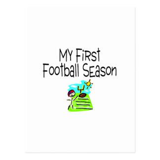 Football My First Fooball Season (Stick Figure) Postcard