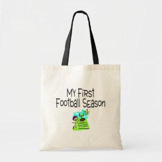 Football My First Fooball Season (Stick Figure) Tote Bag