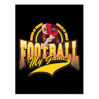 Football My Game Post Card