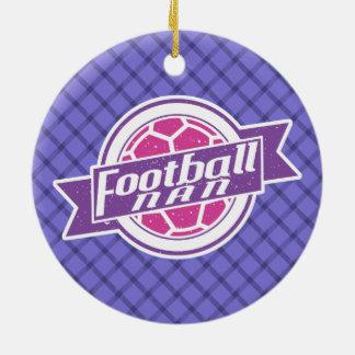 Football Nan (Grandmother) Ceramic Ornament