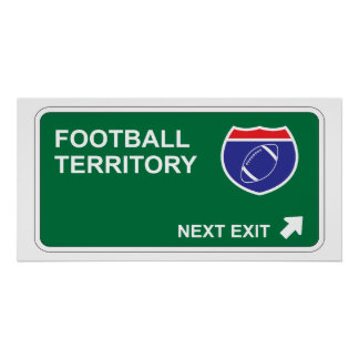 Football Next Exit Poster
