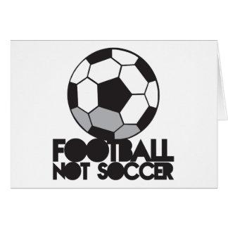 FOOTBALL not soccer! ball shirt Card