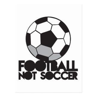 FOOTBALL not soccer! ball shirt Postcard