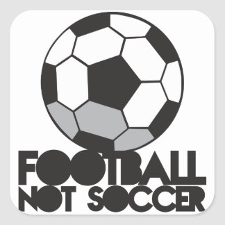 FOOTBALL not soccer! ball shirt Square Sticker