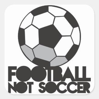 FOOTBALL not soccer! ball shirt Square Sticker