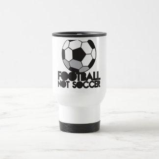 FOOTBALL not soccer! ball shirt Travel Mug