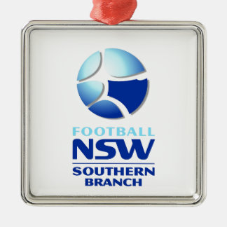 Football NSW Southern Branch Official Merchandise Square Metal Christmas Ornament