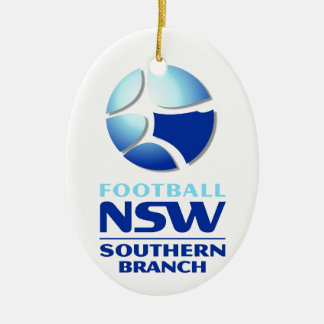 Football NSW Southern Branch Official Merchandise Double-Sided Oval Ceramic Christmas Ornament