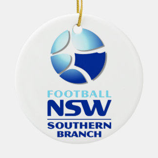 Football NSW Southern Branch Official Merchandise Double-Sided Ceramic Round Christmas Ornament