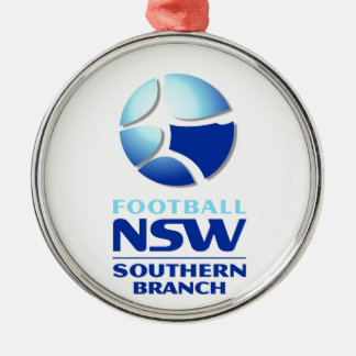 Football NSW Southern Branch Official Merchandise Round Metal Christmas Ornament