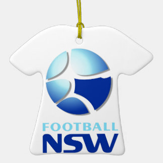 Football NSW Southern Branch Official Merchandise Double-Sided T-Shirt Ceramic Christmas Ornament