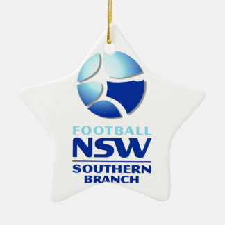 Football NSW Southern Branch Official Merchandise Double-Sided Star Ceramic Christmas Ornament