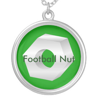 Football Nut Round Pendant Necklace