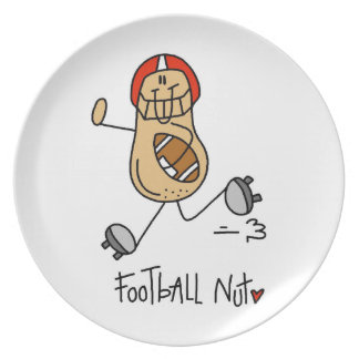 Football Nut T-shirts and Gifts Party Plate