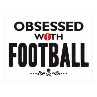 Football Obsessed Postcard