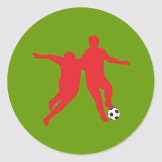 Football of soccer Dribbling Classic Round Sticker