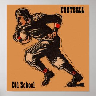 Football - Old School - 1920's Print