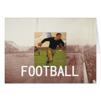 Football Old School Greeting Cards