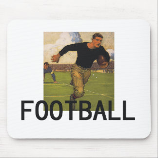 Football Old School Mouse Pad