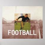 Football Old School Poster