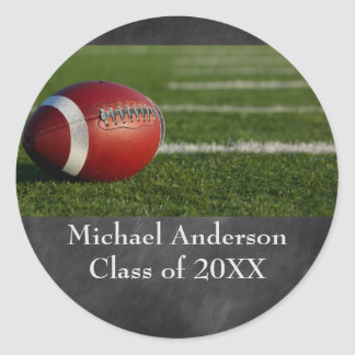 Football on Chalkboard - Graduation Sticker