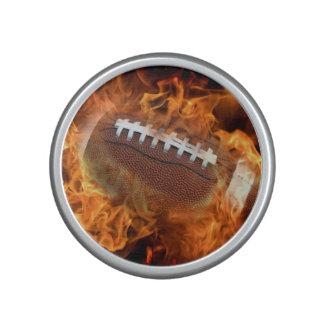 Football on fire bluetooth speaker