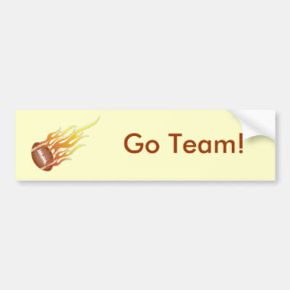 Football on Fire Car Bumper Sticker