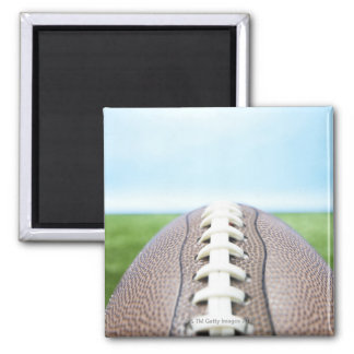 Football on Grass 2 2 Inch Square Magnet