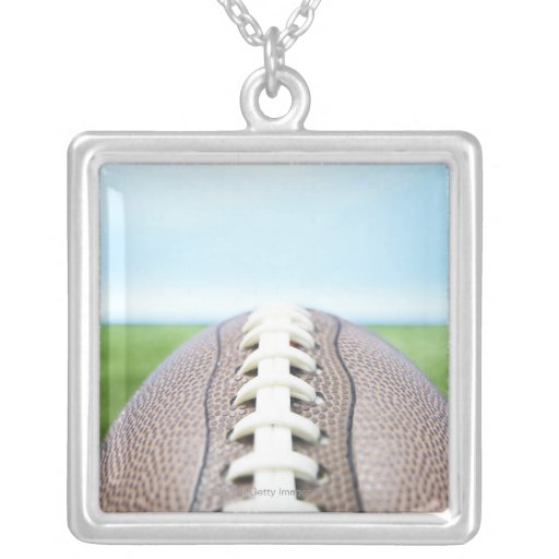 Football on Grass 2 Personalized Necklace