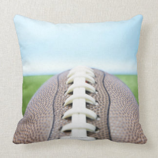 Football on Grass 2 Throw Pillow